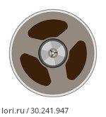 Купить «Vector illustration of a tape bobbin», иллюстрация № 30241947 (c) Сергей Лаврентьев / Фотобанк Лори