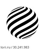 Купить «Abstract striped spheres», иллюстрация № 30241983 (c) Сергей Лаврентьев / Фотобанк Лори