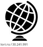 Купить «Symbolic image of geographical globe. Web icon», иллюстрация № 30241991 (c) Сергей Лаврентьев / Фотобанк Лори