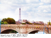Купить «View on the bridge Pont des Invalides Paris France», фото № 30251927, снято 6 августа 2016 г. (c) Сергей Новиков / Фотобанк Лори