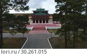 Купить «Забайкалье. Видео с дрона. Буддистский дацан в Агинском.», видеоролик № 30261015, снято 7 октября 2018 г. (c) kinocopter / Фотобанк Лори