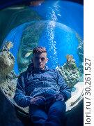 Купить «in the oceanarium», фото № 30261527, снято 10 июня 2017 г. (c) Jan Jack Russo Media / Фотобанк Лори