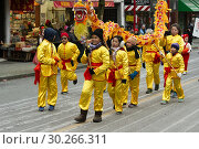 Lunar New Year parade on Pender Street in Vancouver, BC, Canada. (2019 год). Редакционное фото, фотограф Douglas Williams / age Fotostock / Фотобанк Лори