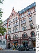Купить «Красивая архитектура Хельсинки. Финляндия», фото № 30272623, снято 20 сентября 2018 г. (c) E. O. / Фотобанк Лори