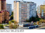Купить «Москва, проспект Мира, дом 163», фото № 30272651, снято 7 сентября 2018 г. (c) glokaya_kuzdra / Фотобанк Лори