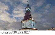 Купить «Resurrection Monastery(Voskresensky Monastery, Novoiyerusalimsky Monastery or New Jerusalem Monastery) against the sky--is a major monastery of the Russian Orthodox Church in Moscow region, Russia», видеоролик № 30272827, снято 9 марта 2019 г. (c) Владимир Журавлев / Фотобанк Лори