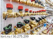 Купить «A variety of plumbing pipe connectors, corners, fittings, nipples.», фото № 30275299, снято 12 февраля 2019 г. (c) Андрей Радченко / Фотобанк Лори