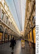 Купить «Интерьер Королевской галереи Святого Юбера в центре Брюсселя, Бельгия», фото № 30276651, снято 4 июля 2018 г. (c) V.Ivantsov / Фотобанк Лори