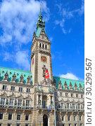 Hamburg Town Hall (2016 год). Редакционное фото, фотограф Татьяна Савватеева / Фотобанк Лори