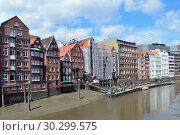 Old buildings in Hamburg (2016 год). Стоковое фото, фотограф Татьяна Савватеева / Фотобанк Лори