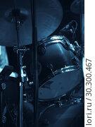 Купить «Music vertical photo with drum set», фото № 30300467, снято 2 мая 2016 г. (c) EugeneSergeev / Фотобанк Лори