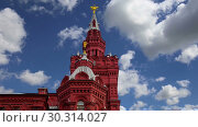 Купить «Historical museum against the sky, Red Square, Moscow, Russia», видеоролик № 30314027, снято 15 марта 2019 г. (c) Владимир Журавлев / Фотобанк Лори