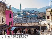 Купить «Mostar traditional house in old town, Bosnia and Herzegovina», фото № 30325667, снято 24 февраля 2018 г. (c) Николай Коржов / Фотобанк Лори