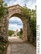Купить «View of Motsameta Monastery, Georgia», фото № 30327775, снято 26 сентября 2018 г. (c) Юлия Бабкина / Фотобанк Лори