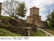 Купить «Ancient Square Church of the 9th century in Nekresi Monastery, Georgia», фото № 30327787, снято 1 октября 2018 г. (c) Юлия Бабкина / Фотобанк Лори