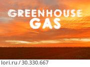 Купить «Ecological concept of greenhouse gas emissions», фото № 30330667, снято 27 мая 2020 г. (c) Elnur / Фотобанк Лори