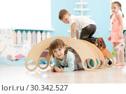 Children playing in kindergarten. Стоковое фото, фотограф Оксана Кузьмина / Фотобанк Лори