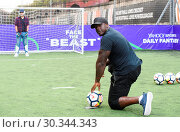 Купить «Adebayo 'The Beast' Akinfenwa was appearing at the Yahoo Sport Daily Fantasy Deadline Day Dugout event at Boxpark, Shoreditch. Featuring: Adebayo Akinfenwa...», фото № 30344343, снято 31 августа 2017 г. (c) age Fotostock / Фотобанк Лори