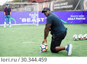 Купить «Adebayo 'The Beast' Akinfenwa was appearing at the Yahoo Sport Daily Fantasy Deadline Day Dugout event at Boxpark, Shoreditch. Featuring: Adebayo Akinfenwa...», фото № 30344459, снято 31 августа 2017 г. (c) age Fotostock / Фотобанк Лори