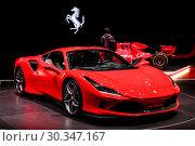 Купить «Ferrari F8 Tributo», фото № 30347167, снято 10 марта 2019 г. (c) Art Konovalov / Фотобанк Лори
