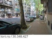 Dobracina street in Belgrade (2018 год). Редакционное фото, фотограф Константин Гуща / Фотобанк Лори