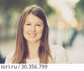 Купить «Closeup portrait of romantic girl», фото № 30356799, снято 15 августа 2017 г. (c) Яков Филимонов / Фотобанк Лори