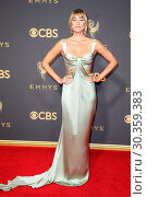 Купить «69th Emmy Awards held at the Microsoft Theatre L.A. LIVE - Arrivals Featuring: Renee Bargh Where: Los Angeles, California, United States When: 17 Sep 2017 Credit: FayesVision/WENN.com», фото № 30359383, снято 17 сентября 2017 г. (c) age Fotostock / Фотобанк Лори