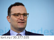 Купить «Berlin, Germany - Jens Spahn, Federal Minister of Health.», фото № 30377035, снято 27 февраля 2019 г. (c) Caro Photoagency / Фотобанк Лори