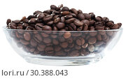 Купить «Coffee beans in a glass cup», фото № 30388043, снято 19 апреля 2019 г. (c) Яков Филимонов / Фотобанк Лори