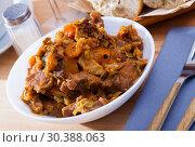 Купить «Cabbage stewed with pork», фото № 30388063, снято 17 июля 2019 г. (c) Яков Филимонов / Фотобанк Лори