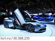 Купить «Pininfarina Battista», фото № 30388235, снято 10 марта 2019 г. (c) Art Konovalov / Фотобанк Лори