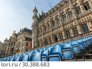 Купить «Площадь Гран-Плас в центре Брюсселя с трибуной для зрителей», фото № 30388683, снято 4 июля 2018 г. (c) V.Ivantsov / Фотобанк Лори