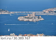 View of Marseille marina and the Chateau d If (2018 год). Стоковое фото, фотограф Anton Eine / Фотобанк Лори