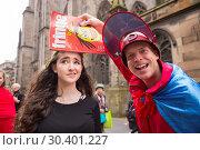 Купить «Edinburgh Fringe Festival - Mr Danger's Spectacular 70 Year Itch - Photocall To celebrate 70 years of the fringe, World Renowned Daredevil Stuntman Douglas...», фото № 30401227, снято 4 августа 2017 г. (c) age Fotostock / Фотобанк Лори