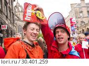 Купить «Edinburgh Fringe Festival - Mr Danger's Spectacular 70 Year Itch - Photocall To celebrate 70 years of the fringe, World Renowned Daredevil Stuntman Douglas...», фото № 30401259, снято 4 августа 2017 г. (c) age Fotostock / Фотобанк Лори