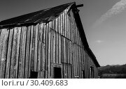 Купить «Abandoned Barn, Black and White Image», фото № 30409683, снято 26 сентября 2015 г. (c) easy Fotostock / Фотобанк Лори