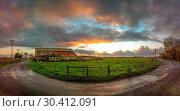 Купить «Old Barn, Panoramic Color Image», фото № 30412091, снято 14 января 2016 г. (c) easy Fotostock / Фотобанк Лори