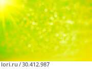 Abstract green bokeh and blurred background. Стоковое фото, фотограф gutarphotoghaphy / easy Fotostock / Фотобанк Лори