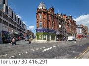 Купить «The rounded Corner building. Sheffield. England», фото № 30416291, снято 7 мая 2009 г. (c) Serg Zastavkin / Фотобанк Лори