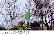 Купить «Celebration of St. Patrick's Day in Moscow Park Sokolniki.», видеоролик № 30425139, снято 16 марта 2019 г. (c) Андрей Радченко / Фотобанк Лори