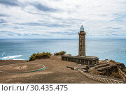 Купить «Old Capelinhos Lighthouse on the Atlantic Ocean, Faial Island, Azores», фото № 30435475, снято 4 мая 2012 г. (c) Юлия Бабкина / Фотобанк Лори