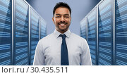 Купить «indian businessman over server room», фото № 30435511, снято 12 января 2019 г. (c) Syda Productions / Фотобанк Лори