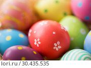 close up of colored easter eggs. Стоковое фото, фотограф Syda Productions / Фотобанк Лори