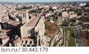 Купить «Collegiate Basilica of Santa Maria in Manresa, Spain», видеоролик № 30443179, снято 9 декабря 2018 г. (c) Яков Филимонов / Фотобанк Лори