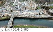 Купить «Picturesque view of French medieval village Estaing on Lot river», видеоролик № 30443183, снято 29 января 2019 г. (c) Яков Филимонов / Фотобанк Лори