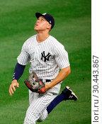 Купить «The New York Yankees take on the New York Mets during game 2 of the 2017 Subway Series at Yankee Stadium Featuring: Aaron Judge Where: Bronx, New York, United States When: 15 Aug 2017 Credit: WENN.com», фото № 30443867, снято 15 августа 2017 г. (c) age Fotostock / Фотобанк Лори