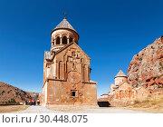 Купить «The medieval monastery of Noravank in Armenia. Was founded in 1205», фото № 30448075, снято 23 сентября 2018 г. (c) Наталья Волкова / Фотобанк Лори