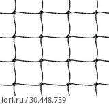 Купить «Seamless pattern of soccer goal net or tennis net», иллюстрация № 30448759 (c) Сергей Лаврентьев / Фотобанк Лори