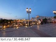 Купить «Kremlin (at night), Moscow, Russia--the most popular view of Moscow», фото № 30448847, снято 17 августа 2018 г. (c) Владимир Журавлев / Фотобанк Лори