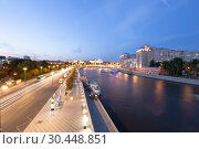 Купить «Moskva River and the Kremlin (at night), Moscow, Russia--the most popular view of Moscow», фото № 30448851, снято 17 августа 2018 г. (c) Владимир Журавлев / Фотобанк Лори